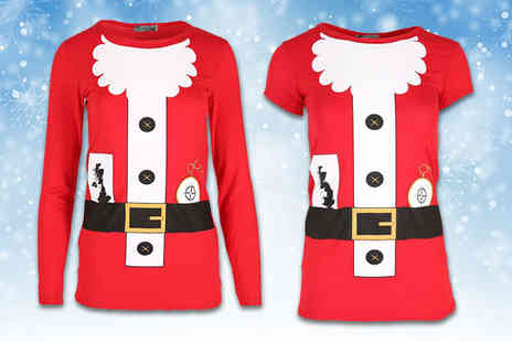 Be Jealous - Santa design Christmas top - Save 71%