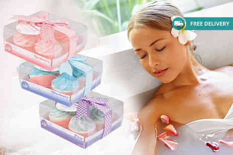 London Exchain Store - Set of 12 cupcake bath bombs in three scents plus Delivery is included - Save 68%