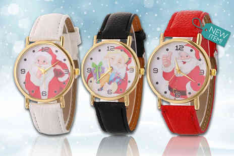 Solo Act - Santa themed watch choose from three colours - Save 75%