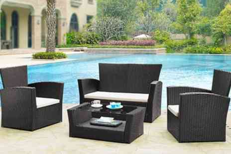 Groupon Goods Global GmbH - Four Piece Rattan Effect Garden Set - Save 60%