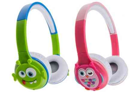 Groupon Goods Global GmbH - Kids Rechargeable Wireless Bluetooth On Ear Headphones - Save 0%