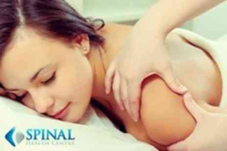 Spinal Health Centre - Therapeutic Massage Plus Chiropractic Examination Including Postural Assessment - Save 73%