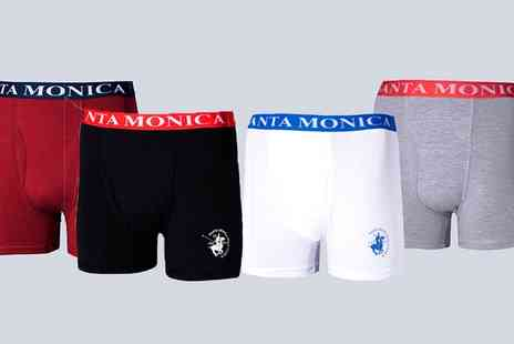 Groupon Goods Global GmbH - Two Pack of Santa Monica Polo Club Boxers - Save 0%
