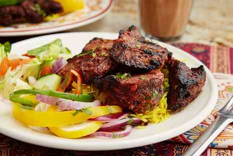 Castlegate Indian Restaurant - Two Course Indian Meal with Side for Two or Four - Save 49%