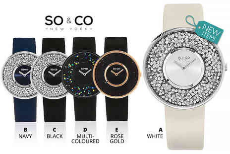 YGS Selections - Ladies luxury SO&CO crystal filled watch - Save 84%