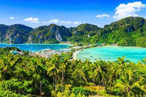 Super Escapes Travel - Seven night Phuket, Thailand  4 Star Phuket Beach Escape with a free full day Phi Phi Island speed boat trip, flights, breakfast, and upgrade from deluxe to premier room - Save 23%