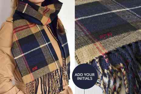 Solesmith - Personalised tartan scarf - Save 54%