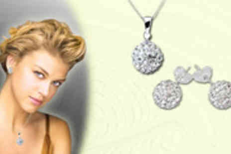 The Sparkle Company - Shamballa style Pendant and earrings - Save 70%