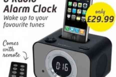 Led Hut - iPod Dock & Radio Alarm Clock Comes With Remote - Save 40%