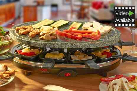 Groupon Goods Global GmbH - Cooks Professional Eight Person Stone Raclette Grill - Save 60%