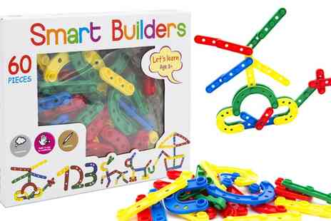Groupon Goods Global GmbH - Smart Builders 60 Piece Construction Kit - Save 63%