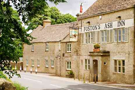 Fostons Ash - Three course meal for 2 at outstanding Cotswolds inn - Save 40%