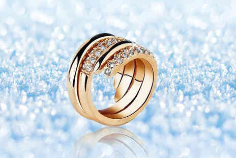 Evoked Design - Rose gold plated ring - Save 81%