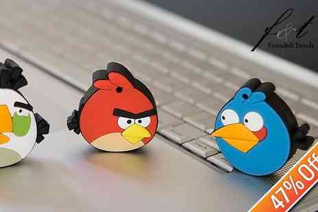 Angry Birds - Cute Monkey or Angry Birds 4GB Character USB Memory Stick To Brighten Your Dull Desktop - Save 47%