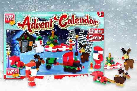 Spot Promotions - Block Tech Christmas winter scene advent calendar - Save 68%