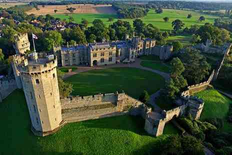 Warwick Castle - Overnight stay in The Knights Village for two with breakfast and two day priority castle entry, or stay as a family of four - Save 29%
