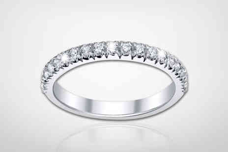 Buy Fine Diamonds - White gold coloured crystal eternity ring - Save 55%