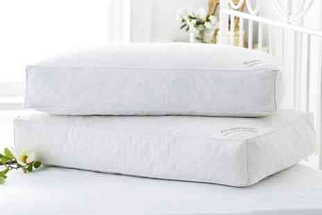 Groupon Goods Global GmbH - Two or Four Box Hotel Quality Duck Feather Pillows - Save 76%