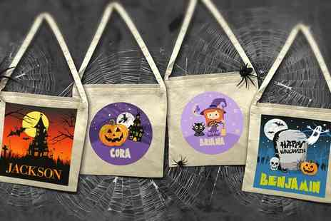 Dinkleboo - One or Two Personalised Halloween Bags - Save 67%