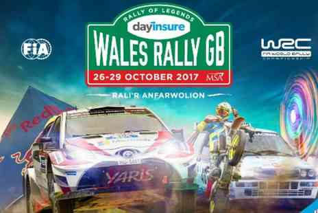 International Motor Sports - Dayinsure Wales Rally GB, Tir Prince Event on 26 October or RallyFest at Cholmondeley Castle on 28 October - Save 0%