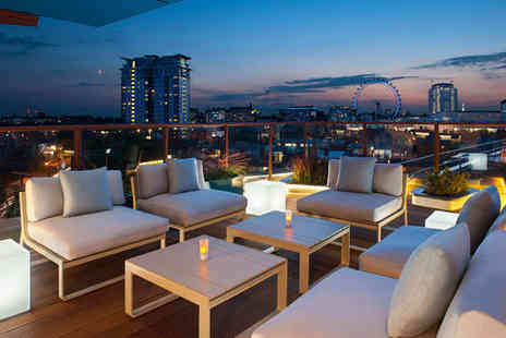 H10 London Waterloo - Four Star Rooftop City Views near the South Bank For Two - Save 73%