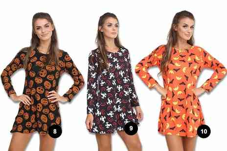 Verso Fashion - Halloween print swing dress - Save 60%