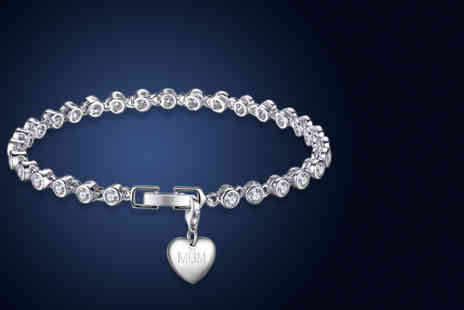 Your Ideal Gift - Crystal chain link bracelet with choice of charms - Save 85%