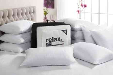 Groupon Goods Global GmbH - John Cotton Relax Jumbo 10 Pack of Pillows - Save 71%