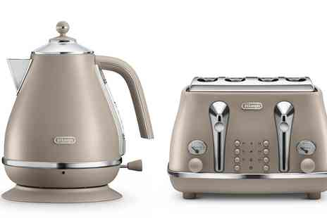 Groupon Goods Global GmbH - Delonghi Icona Elements Kettle and Toaster Set in Choice of Colour With Free Delivery - Save 25%