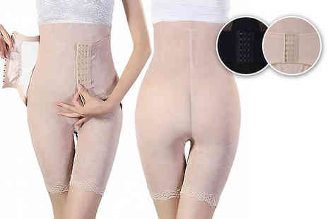 Anarchy - Leg shaping corset control pants choose from black or beige - Save 79%