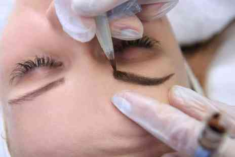 Charlies Beauty Company - Semi permanent microblading eyebrow treatment - Save 55%