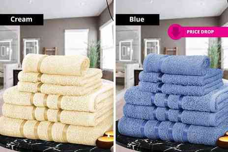 Fusion Homeware - Six piece super soft Egyptian cotton towel bale set choose from 10 colours - Save 82%