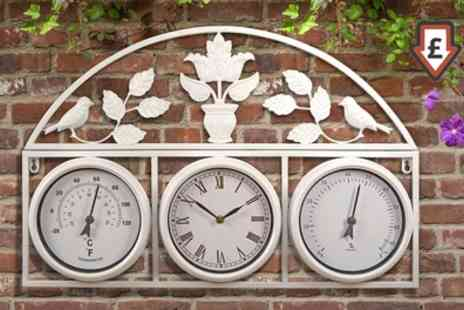 Groupon Goods Global GmbH - Garden Clock and Weather Station in Choice of Colour - Save 64%