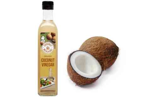 Groupon Goods Global GmbH - One, Two or Six Coconut Merchant Organic Coconut Vinegar 500ml Bottles - Save 44%