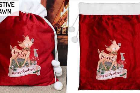 Ideal4Gifts - Personalised Christmas Present Sack Choose from 4 Designs - Save 33%