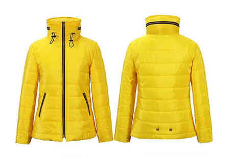 Graboom - Womens Faux Fur Collar Quilted Puffa Jacket Available in 5 Colours - Save 71%