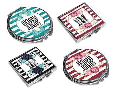 Shop Sharks - Personalised pocket mirror - Save 69%