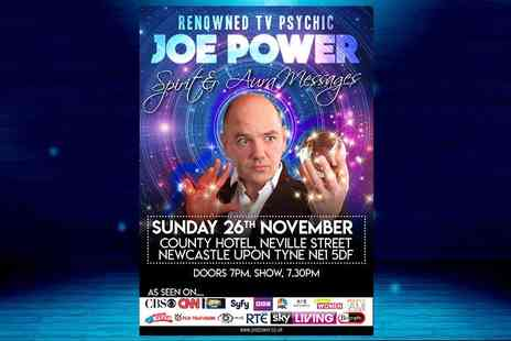 Joe Power - Two tickets to Spirit & Aura Messages show with TV psychic Joe Power - Save 64%