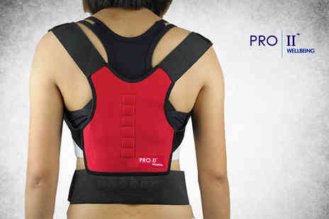 Infitness - Elasticated back and posture corrector support - Save 87%