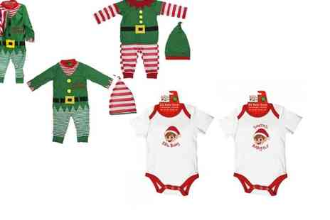 Jones & Jacks - Elves behaving badly baby or toddler outfit - Save 46%