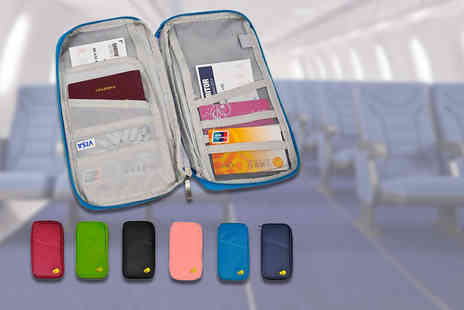 ViVo Technologies - Passport and document travel organiser choose from six colours - Save 70%