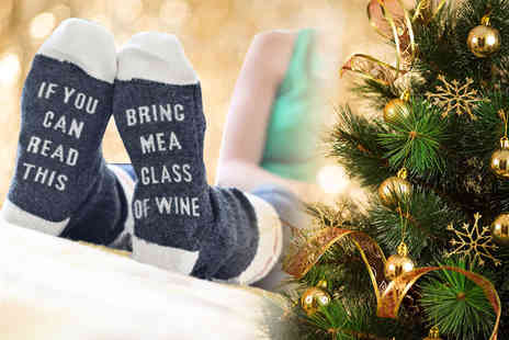 Treats on Trend - Bring me wine socks - Save 70%