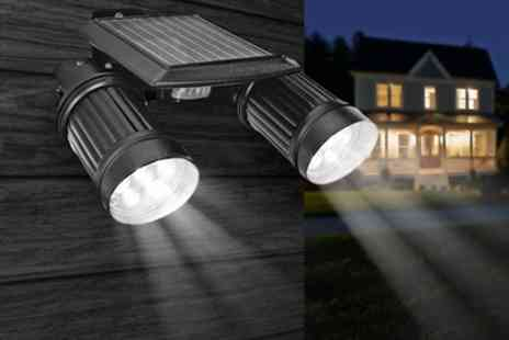 Groupon Goods Global GmbH - Twin Solar Powered Led Lights  With Free Delivery - Save 66%