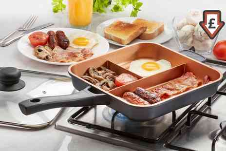 Groupon Goods Global GmbH - Cooks Professional Three Section Copper Ceramic Frying Pan - Save 62%