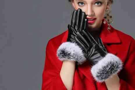 Groupon Goods Global GmbH - Leatherette Womens Touch Screen Gloves - Save 70%
