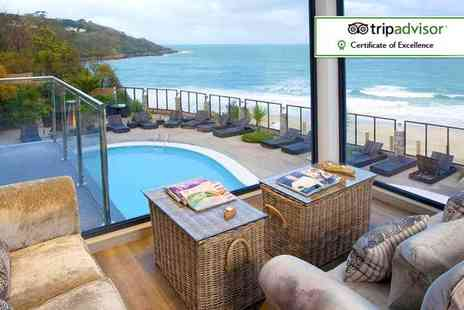 Carbis Bay Hotel - Luxury St. Ives break for two with three course dinner, glass of wine and breakfast - Save 0%