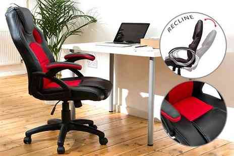 Home Empire - Racing style office chair choose from two colours - Save 65%