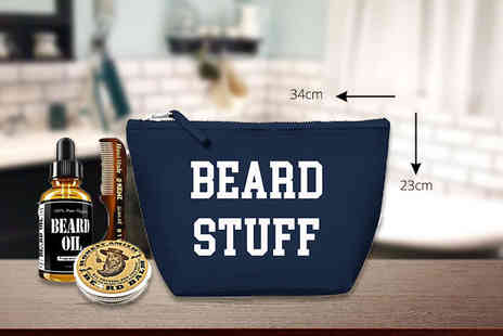 Treats on Trend - Mens beard wash bag - Save 68%