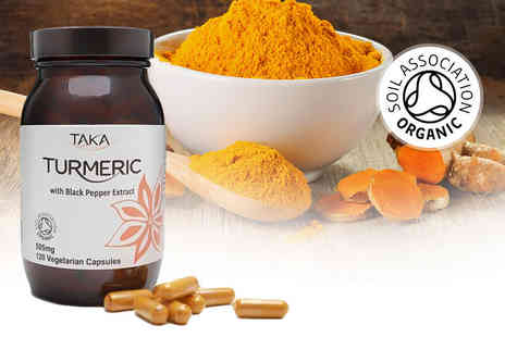 Taka Health - Four month supply of organic turmeric and black pepper capsules - Save 56%