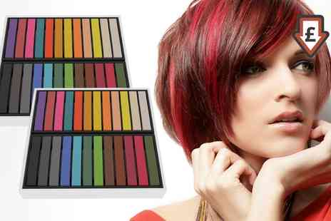 Groupon Goods Global GmbH - 24, 48 or 72 Pack of Hair Colour Chalks - Save 0%